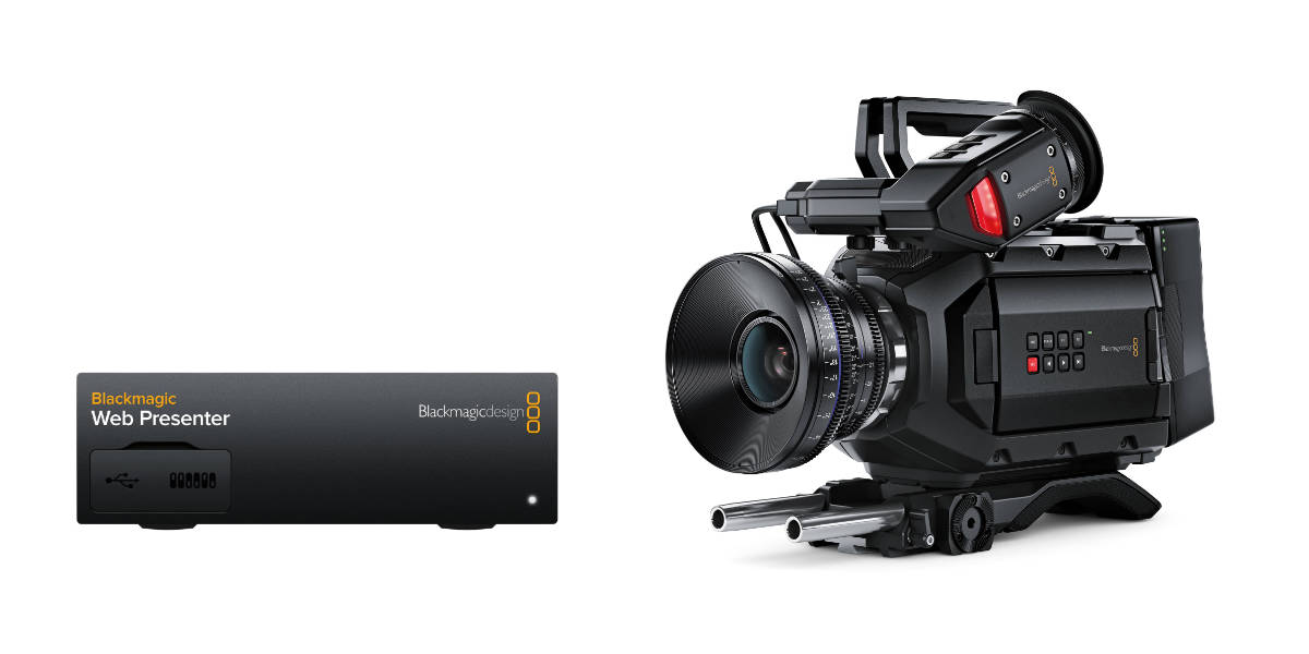 Blackmagic DesignのWeb PresenterとURSA Mini
