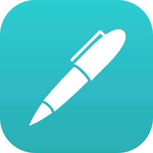メモ帳アプリの「Noteshelf 2」。半額セールだったこと、デザインがかわいらしくて良かったことが購入の決め手。