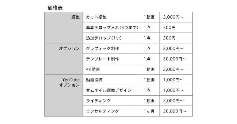 YouTuber Liteプランの価格表