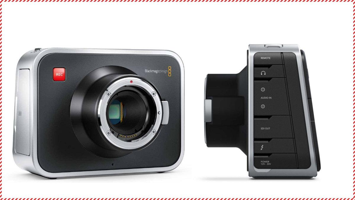 Blackmagic Design初のシネマカメラ「Blackmagic Cinema Camera」。発売当初大きな話題になった。