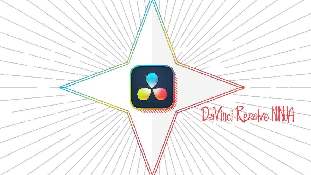 DaVinci Resolve NINJAのチャンネルアートワーク。Affinity Designerにて制作。