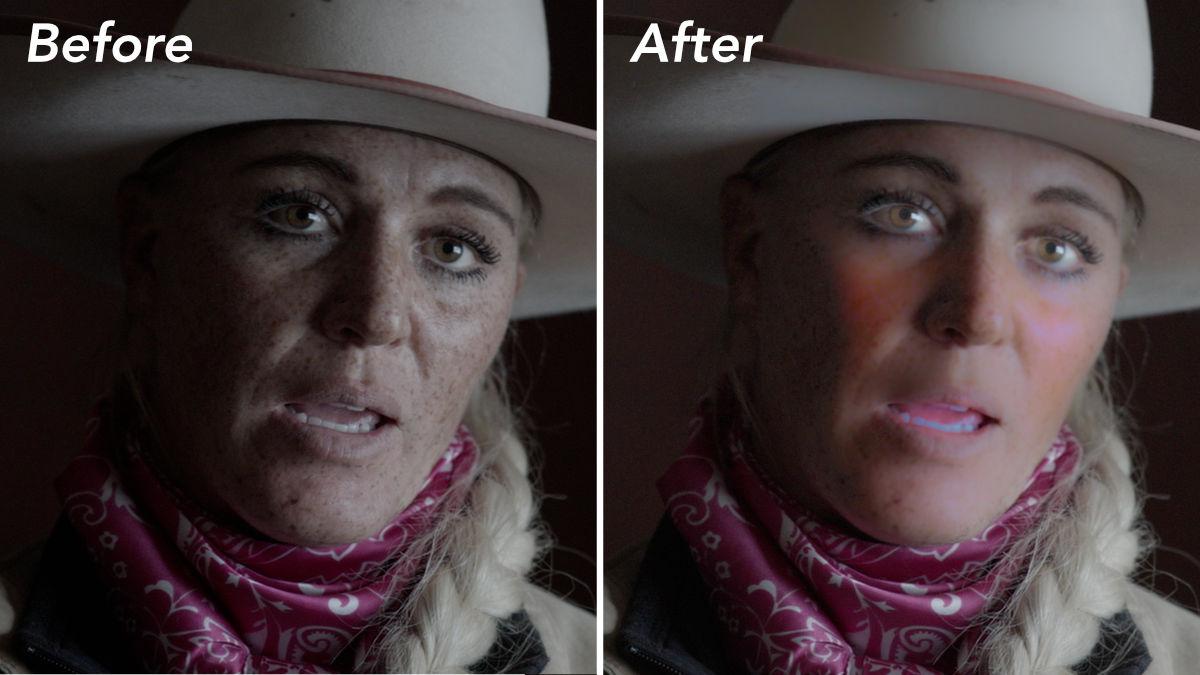 ビフォアー・アフター。肌の調子が劇的に改善されているのが一目瞭然だ。
