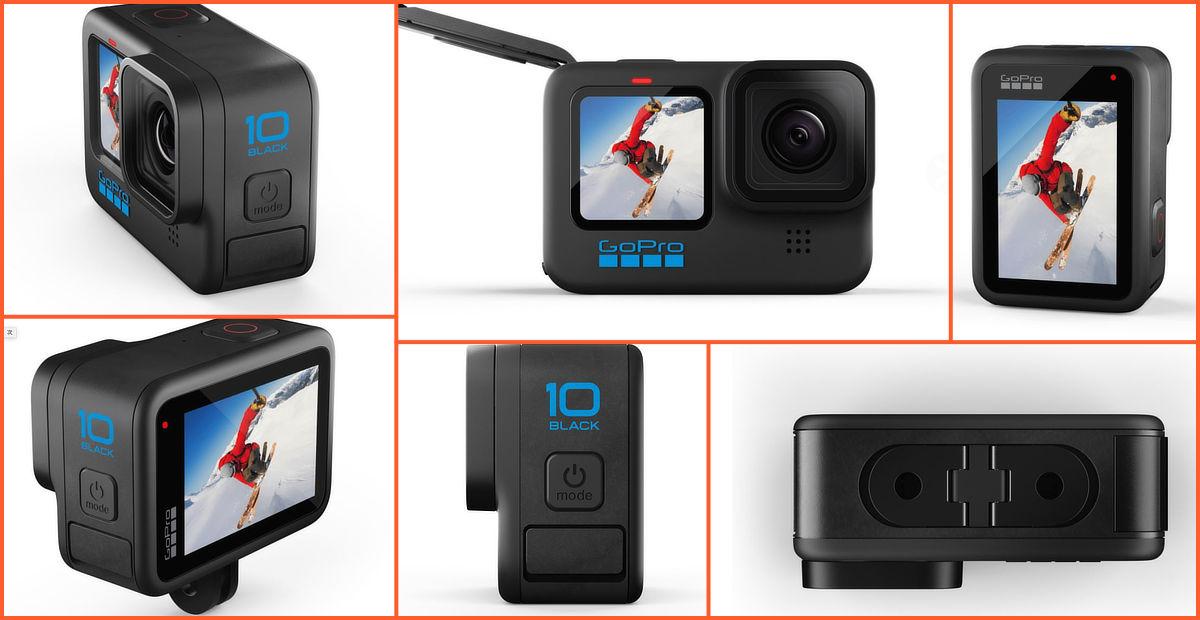 GoPro HERO 10のものと思われる製品画像。現行機種から変更はない模様。